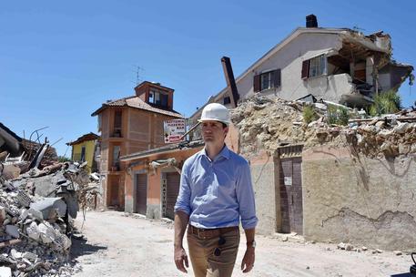 Il premier canadese Justin Trudeau ad Amatrice
