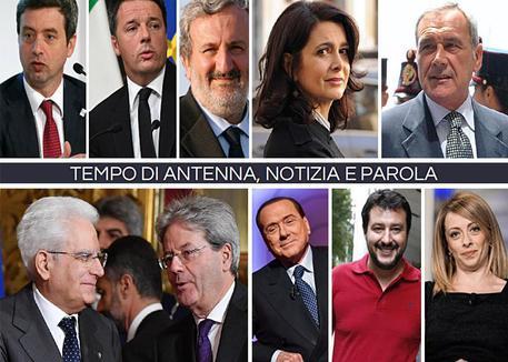 Politici e tv, analisi Cedat-Emg © ANSA