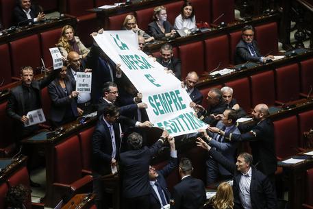 Un momento del voto di ieri in Aula sulla legittima difesa © ANSA