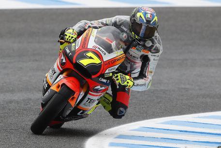 Moto 2, brutto incidente per Lorenzo Baldassarri. Paura ma nessuna conseguenza