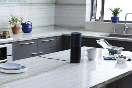 Amazon Echo con a bordo Alexa © ANSA