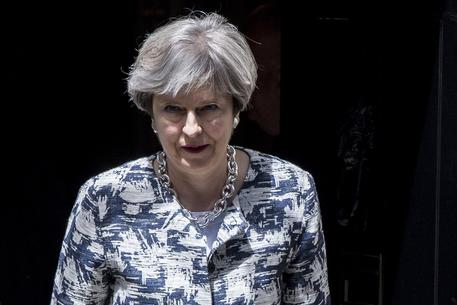 British Prime Minister Theresa May leave Downing Street after DUP deal [ARCHIVE MATERIAL 20170626 ] © ANSA
