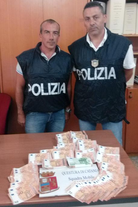 Sulla tratta Catania-Napoli il traffico di soldi falsi$