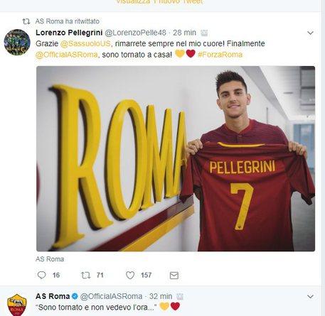 Pellegrini torna alla Roma, coronamento percorso 0e1a419e41802d1865636d90fdd64a73