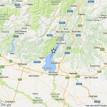 Terremoto magnitudo 3,6 al Lago di Garda: tanta paura per la popolazione