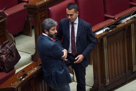Luigi Di Maio e Roberto Fico in Aula © ANSA
