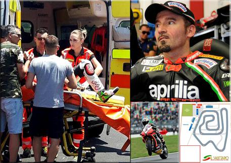 Paura per Max Biaggi, incidente in pista:
