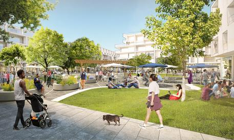 Facebook cresce, nuovo campus nel 2021 (rendering Willow Campus, credit Facebook) © ANSA
