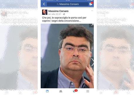 Corsaro contro Fiano: post antisemita e volgare su Facebook