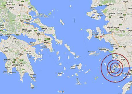 Le mappe ecco lepicentro del sisma cronaca ansa sisma epicentro tra grecia e turchia ansa altavistaventures Image collections
