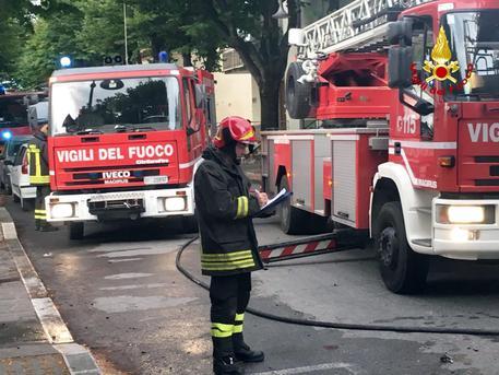 Foto Notizia: mansarda a fuoco a Trecastelli