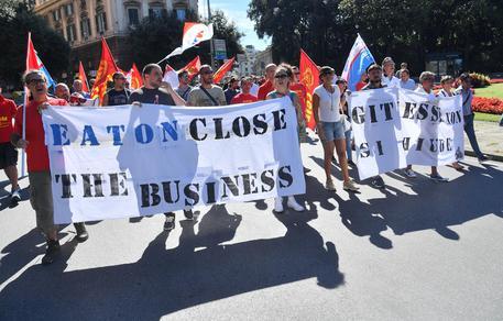 Lavoratori Gitiesse manifestano a Genova