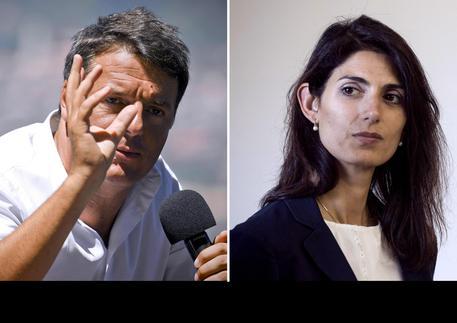 Matteo Renzi e Virginia Raggi © ANSA