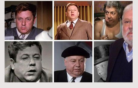 Paolo Villaggio e alcuni dei suoi personaggi © ANSA