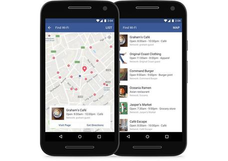 La nuova funzione di Facebook per trovare il Wi-Fi più vicino
