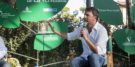 Matteo Renzi al Caffé della Versiliana. Foto Gabriele Ancillotti © ANSA