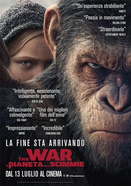 Il pianeta delle scimmie, locandina © ANSA