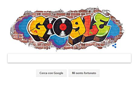 Il doodle di Google in onore dell'hip hop © ANSA