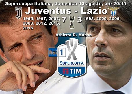 Juventus-Lazio, l'arbitro della Supercoppa sarà Massa