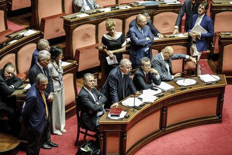 Intervento in dissenso del presidente della Commissione Industria Massimo Mucchetti in Senato © ANSA