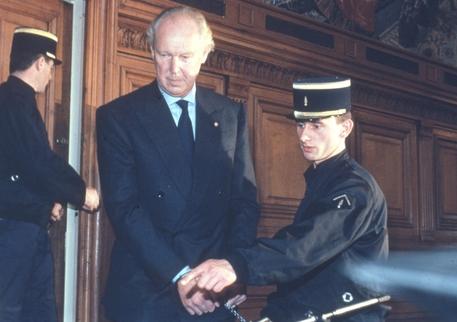 Un momento del processo a carico di Vittorio Emanuele di Savoia accusato di omicidio volontario del  giovane tedesco Dirk Hamer © ANSA/OLDPIX