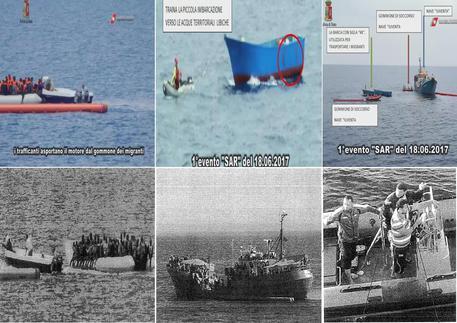 I fermi immagine che documentano i presunti contatti tra l'equipaggio della Iuventa e gli scafisti © ANSA