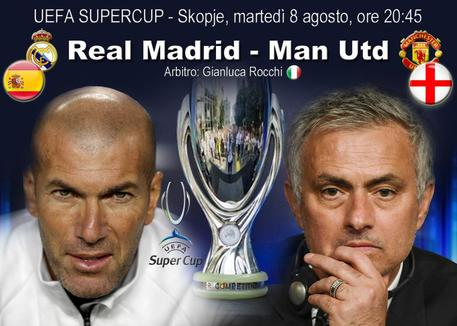 Supercoppa Europea 2017, dove vedere Real Madrid-Manchester United in Tv