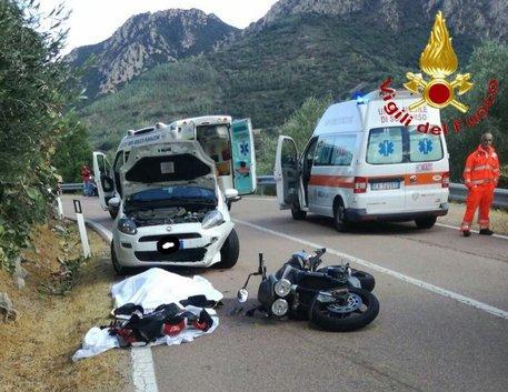 Motociclista tedesco muore in Ogliastra