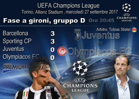 Dove vedere Juventus-Olympiakos in diretta tv e in streaming