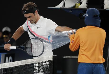 Struff ko tutto facile per Federer