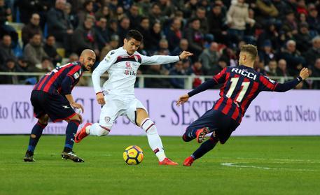 Crotone Cagliari 1-1, ai calabresi annullata rete nel finale