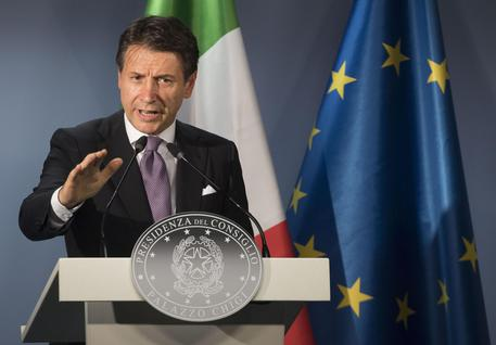 Italian PM Conte at the European Council summit in Brussels © EPA