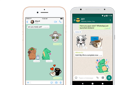 Su Whatsapp arrivano gli stickers (Credit: Engadget) © Ansa