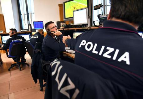 Una sala operativa della polizia © ANSA