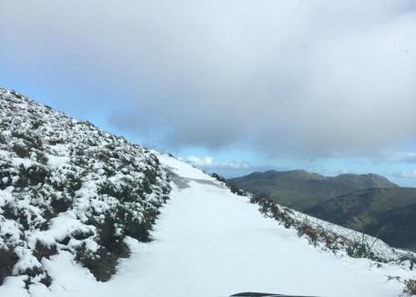 Maltempo: prima neve nel Nuorese