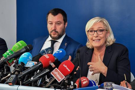 Marine Le Pen e Matteo Salvini