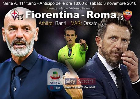 Fiorentina-Roma 1-1, Florenzi replica al rigore di Veretout