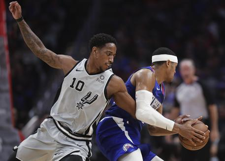 Spurs Clippers Basketball © AP