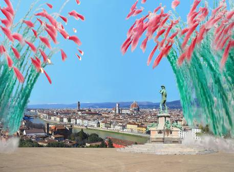 Firenze, i fiori d'artificio di Cai Guo Qiang