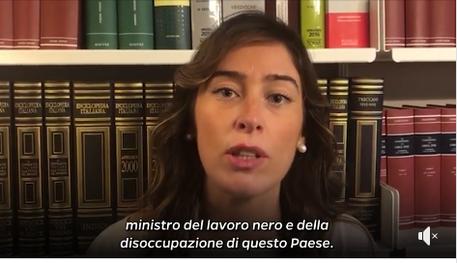 Un frame tratto dal video postato sui social da Maria Elena Boschi © Ansa