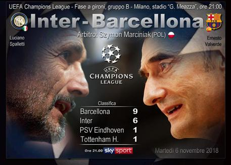 Barcellona - Champions League - 6 novembre 2018