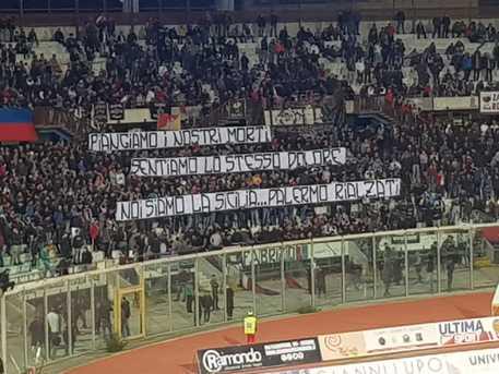 La solidarietà catanese alle vittime di Palermo $