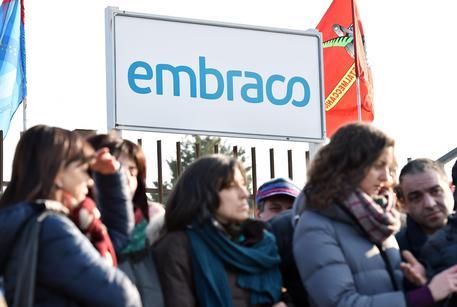 Foto d'archivio di un presidio di lavoratori di Embraco © ANSA