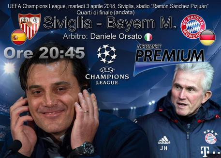 Il Siviglia di Montella sfida anche il Bayern:
