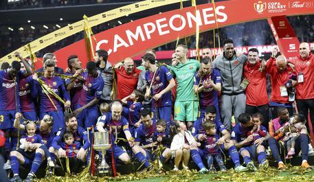 5-0 al Siviglia, il Barcellona vince la Coppa del Re © EPA