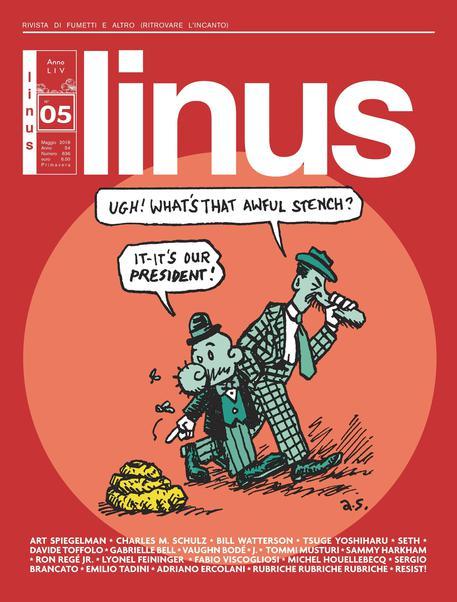 La cover di 'linus' di maggio, un'opera di Art Spiegelman © ANSA