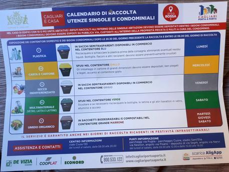 Rifiuti, a Cagliari scatta porta a porta