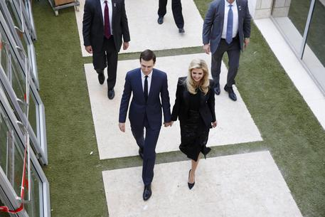 Ivanka Trump con il marito Jared Kushner a Gerusalemme