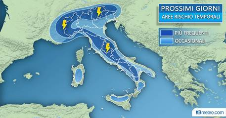 Le previsioni 3Bmeteo per i prossimi giorni © Ansa