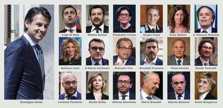 Ecco il governo conte 18 ministri 5 donne tutti i for Nomi dei politici italiani